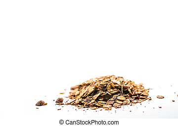 Musli - Pile of musli on the white background