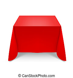 Red tablecloth. Illustration on white background for design