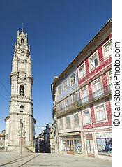 torre dos clerigos porto portugal - torre dos clerigos in...