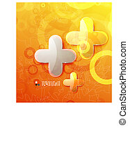 Shiny orange abstract template