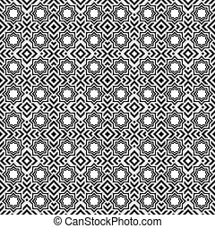 Seamless monochrome texture.Vector art