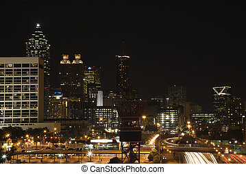 Nightscape of Atlanta.