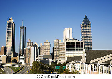Atlanta city skyline.