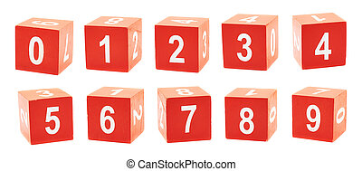 Playing cubes with a numbers