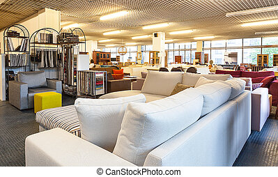 Furniture store - A store full of sofas and cabinets