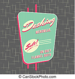 1950s Storefront Style Logo Design - All fonts shown are for...