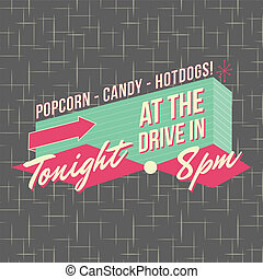 1950s Drive-In Style Logo Design - All fonts shown are for...