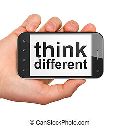 Education concept: Think Different on smartphone - Education...