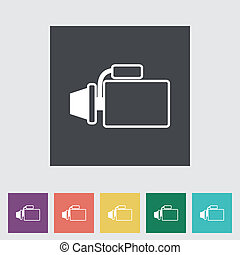 Icon automotive starter Vector illustration