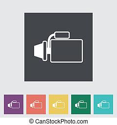 Icon automotive starter. Vector illustration.