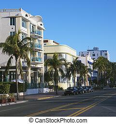 Art deco district, Miami.