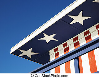 Patriotic painted building.