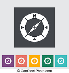 Compass flat icon. Vector illustration EPS.