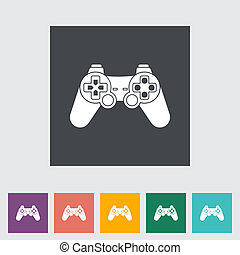 Game flat icon. - Game single flat icon. Vector...