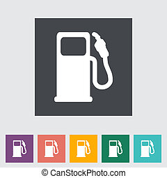 Fuel Single flat icon Vector illustration