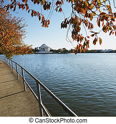 Jefferson Memorial in Washington, D.C., USA.