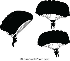 parachutist - vector - illustration of parachutist - vector