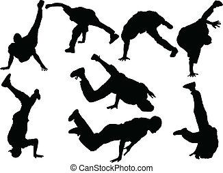 breakdance - vector - illustration of breakdance - vector