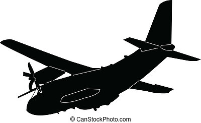 airplane silhouette - vector