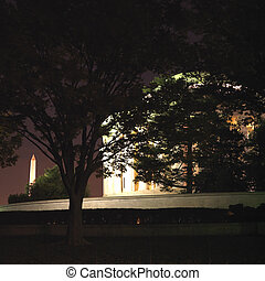 Jefferson Memorial. - Jefferson Memorial at night in...