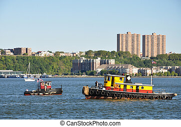 Boats in the Hudson river