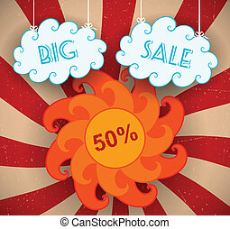 Big Sale - Big sale background. Vector illustration