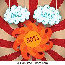 Big Sale - Big sale background. Vector illustration