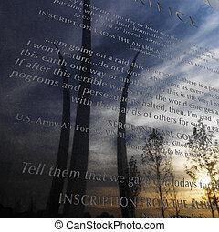 Air Force Memorial. - Three spires of Air Force Memorial...