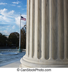 Supreme Court building - Column of Supreme Court building...