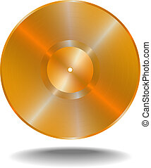 Golden vinil disk, vector illustratuion EPS10