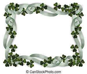 St Pattys Day Border - 3D Illustration for St Patrick\'s Day...