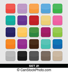 Set Of Colorful App Icon Templates, Frames, Backgrounds. Set...