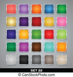Set Of Colorful App Icon Templates, Frames, Backgrounds. Set 22. Vector