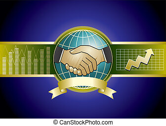 Hand shake - Raster illustration of businessmen handshaking...