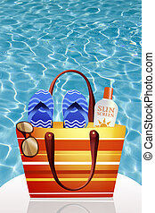 pool bag in summer