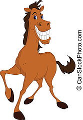 funny horse cartoon - illustration of funny horse cartoon