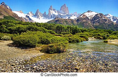 Landscape with Fitz Roy, Patagonia