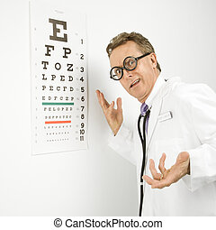 Ophthalmologist doctor.