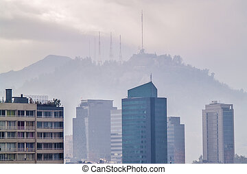 San Cristobal hill in Santiago - Santiago, June 2013. View...