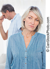 Couple feeling distant after argument