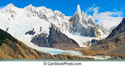 Cerro, torre, montagne, panorama