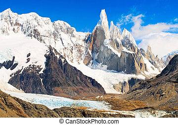 célèbre, Cerro, torre, Los, Glaciares,...