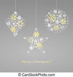 Christmas ball vector illustration background