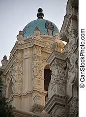 Ornate Carvings Steeple Mission Dolores Saint Francis de Assis San Francisco California