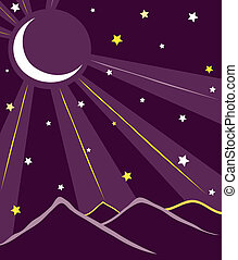 moon at night - Is a illustration in a eps file