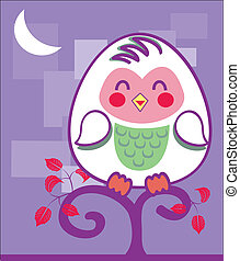 cute Owl - Is a illustration in a eps file