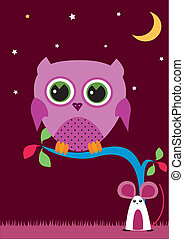 OWL IN THE NIGHT 1 - Is a illustration in a eps file