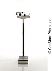 Standing weight scale. - Still life of standing weight...