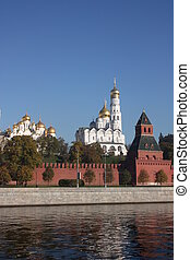 Cupolas of the Moscow Kremlin.