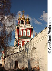 Moscow. Novodevichy convent. Northern gate. Overgate Church...